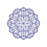 Outlined mandala for coloring or stained-glass window temlate. Vintage decorative element. Oriental pattern vector illustration. Outlined mandala for coloring Royalty Free Stock Images