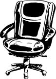 Outlined Office Chair Royalty Free Stock Images