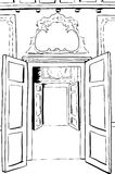 Outlined Open Doorways in Stockholm Palace Royalty Free Stock Photos