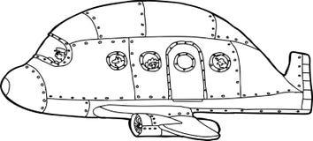 Outlined Passenger Plane Stock Image