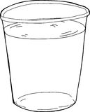 Outlined Plastic Cup of Water Royalty Free Stock Photo