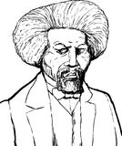 Outlined Portrait of Frederick Douglass Royalty Free Stock Photography