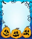 Outlined pumpkins Halloween frame 2. Eps10 vector illustration royalty free illustration