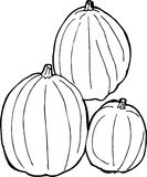 Outlined Pumpkins Royalty Free Stock Photo