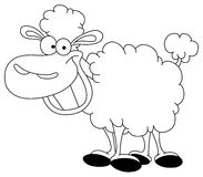 Outlined sheep. Outlined illustration of a sheep Royalty Free Stock Images