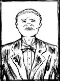 Outlined Sketch of Nation of Islam Member Stock Photos