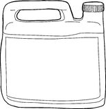 Outlined Soap Container Royalty Free Stock Photography
