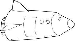 Outlined Space Rocket Stock Photos