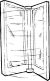 Outlined Spinning Door Stock Images