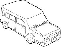 Outlined SUV Illustration Stock Image