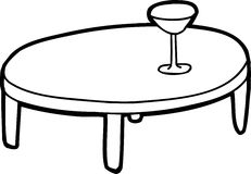 Outlined Table with Glass Stock Images