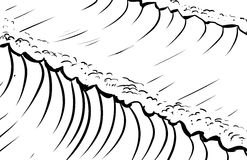Outlined tidal waves background Stock Image