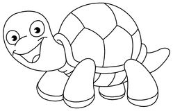 Outlined turtle Stock Photography