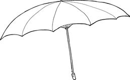 Outlined Umbrella Royalty Free Stock Photo