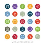 Outlined Web and Internet Icon Set Royalty Free Stock Photo