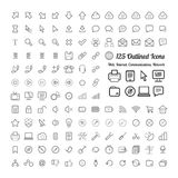 Outlined Web and Internet Icon Set Royalty Free Stock Images