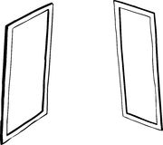 Outlined window or mirror cartoons Stock Photos