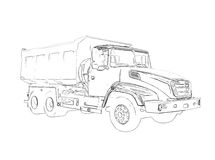 Outlines of the big lorry Stock Photos