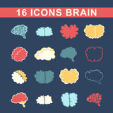 Outlines of the brain Royalty Free Stock Photography