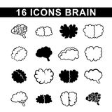 Outlines of the brain Stock Images