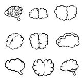 Outlines of the brain Royalty Free Stock Photos