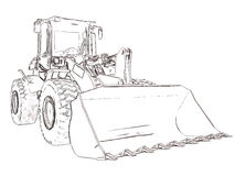 Outlines bulldozer Royalty Free Stock Photography