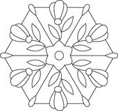 Outlines of floral stained glass Stock Photo