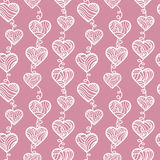 Outlines hearts pattern. Stock Photos