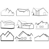 Outlines of houses Stock Images