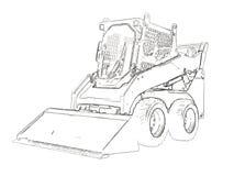 Outlines of the mini bulldozer Stock Image