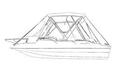 Outlines of the motor boat Royalty Free Stock Photography