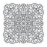 Outlines ornament, trendy mandala design Royalty Free Stock Image