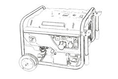 Outlines of the portable generator Royalty Free Stock Images
