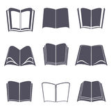Outlines a set of books Stock Image