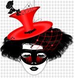 image of an dame in carnival mask Royalty Free Stock Photos