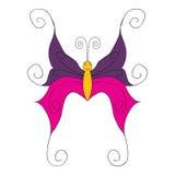 Outlinescharacter aislado mariposa multicolor Fotografía de archivo libre de regalías