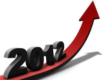 Outlook 2012. Outlook on business year 2012 Stock Photos