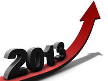 Outlook 2013. Positive and prosperous outlook on year 2013 Stock Photo