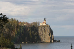 Outlook. Lighthouse on the shore of Lake Superior stock images