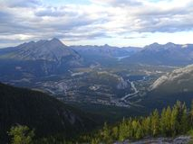 Outlook of Banff in Alberta, USA Royalty Free Stock Image