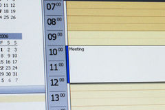 Outlook calender. Appointment in microsoft outlook calender Royalty Free Stock Image
