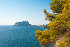 Outlook on Calpe Royalty Free Stock Photography