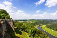 Outlook from castle Koenigstein Stock Image