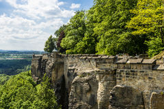 Outlook from castle Koenigstein Royalty Free Stock Image