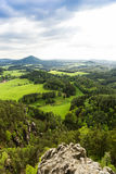 Outlook from castle Koenigstein Royalty Free Stock Photo
