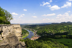 Outlook from castle Koenigstein Royalty Free Stock Photos