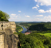 Outlook from castle Koenigstein Royalty Free Stock Images