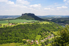 Outlook from castle Koenigstein Stock Photography