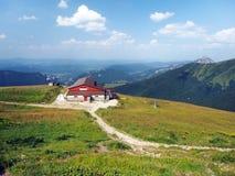 Outlook dalla montagna di Chleb, Slovacchia fotografia stock libera da diritti