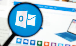 Outlook di Microsoft Office Fotografia Stock Libera da Diritti